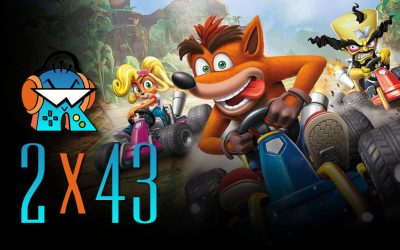 2×43 Crash Team Racing Nitro Fueled y Bloodstained