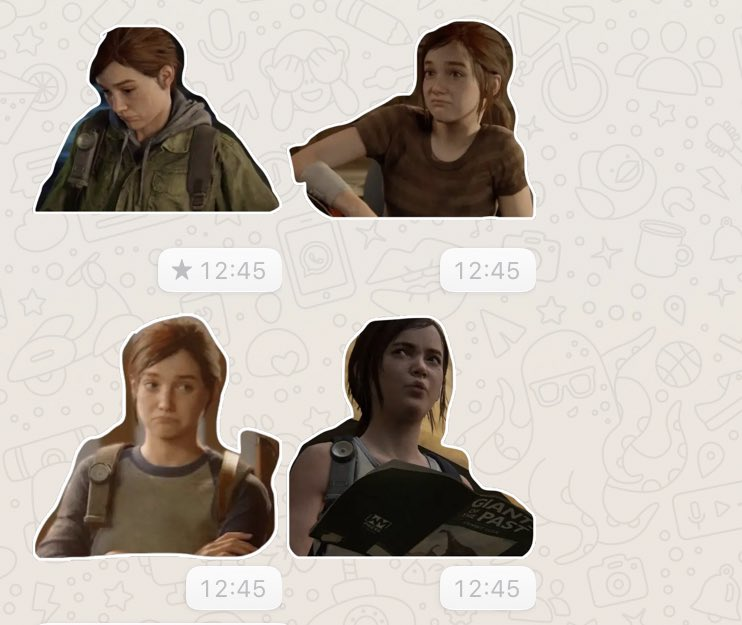 Pack de Stickers The Last of Us Parte II (Whastapp)